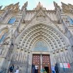 Постер, плакат: The Gothic Barcelona Cathedral Catedral de Barcelona