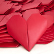 Lots of red paper hearts for Valentine's Day — Stock Photo #62716499