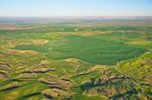 Ballooning over Israel - bird's eye view of Israel after the rai — Stock Photo