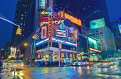 Broadway Times Square at night, New York — Foto de Stock