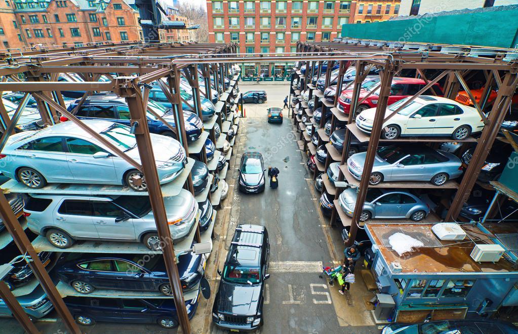 Multi level parking garage in new york city stock for New york city parking garage