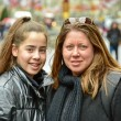 Teenage girl with braces and her mother in Europe — Stock Photo #71731897