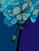 Blue flower — Stock Vector
