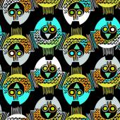Seamless Pattern with owls — Stock Vector