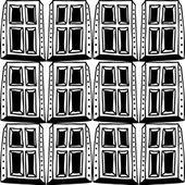 Seamless pattern with windows — Cтоковый вектор