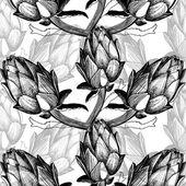 Hand drawn artichokes — Stock Vector