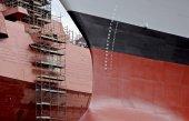 Military shipyard — Stock Photo