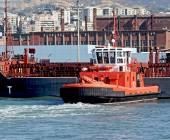 Ilva ship moored in port — Stock Photo