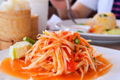 Thai papaya salad also known as Som Tum. — Stock Photo
