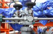 Pneumatic valve at an oil and gas industrial. — Foto de Stock