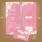 Uitnodiging bruiloft of aankondiging kaart — Stockvector
