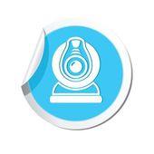 Web camera icon. Vector illustration — Stock Vector
