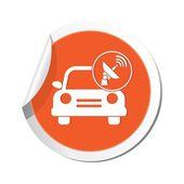 Car service. Car with wireless icon. Vector illustration — Stockvektor