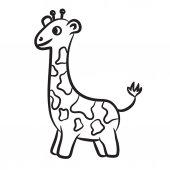 Outlined giraffe vector illustration. Isolated on white. — Stock Vector