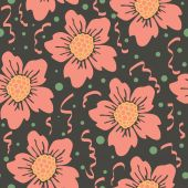 Abstract seamless pattern with floral background. Vector illustration — Stock Vector