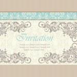 Beautiful wedding invitation card. — Stock Vector #70063721