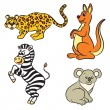Cute zoo animals collection. Vector illustration. — Stock Vector #70063811