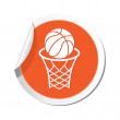 Map pointer with basketball sign icon. — Stock Vector #70405239
