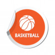 Map pointer with basketball sign icon. — Stock Vector #70405301