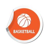 Map pointer with basketball sign icon. — Stock Vector