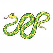 蛇的插图。图画书. — 图库矢量图片