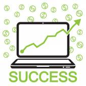 Bussiness online success — Stock Vector