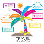 Travel infographics — Stock Vector