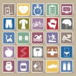 Fitness Icons Sticker set — Stock Vector #53009715