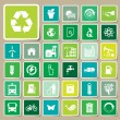 Ecology and recycle icons, Sticker vector eps10 — Stock Vector #53009731