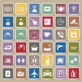 Hotel icons Sticker set — Vettoriale Stock