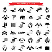 Insurance Car, home, disasters, investment, health, and travel i — Stock Vector