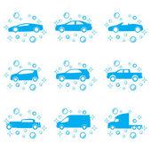 Car wash vector — Stock Vector