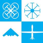 Drone icon set — Stockvector