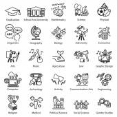Education Study icons set — Stock Vector
