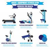 Fitness Ekipmanları vektör set — Stok Vektör
