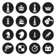 Chess icons. Vector — Stock Vector #70233243