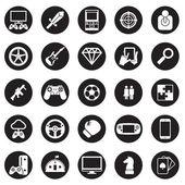 Game icon vector set — Stock Vector