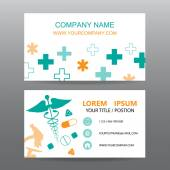 Business card vector background, Hospital personnel — Stock Vector