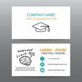 Business card vector background,Professors or teachers — Vecteur