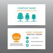 Business card vector background,Home Office — Vector de stock
