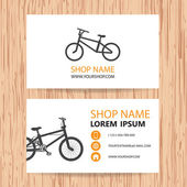 Business card vector background, bike shop — Stock Vector