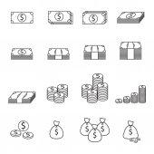 Money line icon — Stockvektor