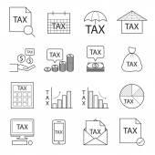 Tax icon,line vector — Stock Vector