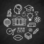 Education vector Blackboard background — Stock Vector #75679707