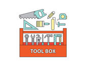 Tool box , vector — Stock Vector