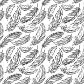 Seamless pattern with decorative feathers — Stock Vector