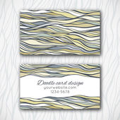 Abstract doodle business card template — Vettoriale Stock