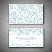 Abstract doodle business card template — Stock Vector