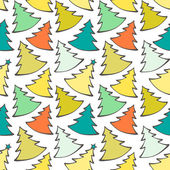 Seamless pattern with colorful Christmas trees — Stock Vector