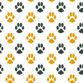 Seamless pattern with animal footprint texture — Stock Vector